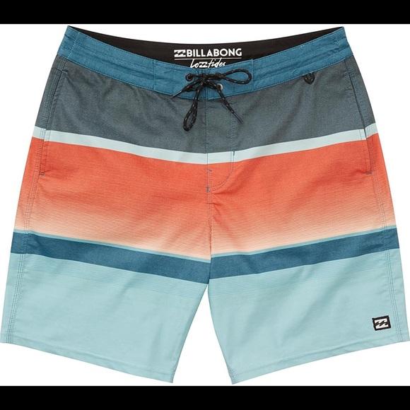 Billabong multicolor spinner 21 board shorts 42